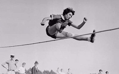 Gretel Bergmann (Margaret Lambert) competing in 1930s Germany (Bettmann, Courtesy of Olympic Channel)