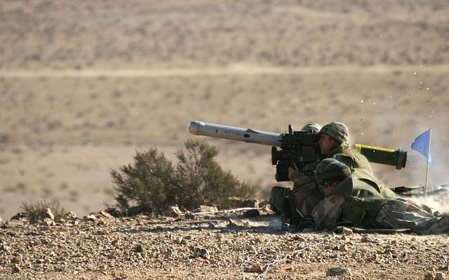 Illustrative. Israeli soldiers launch a Spike anti-tank guided missile during a training exercise. (Rafael Advanced Defense Systems)
