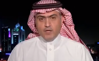 Saudi Minister for Gulf Affairs Thamer al-Sabhan (Screen capture: YouTube)