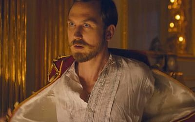 The sensual side of Tsar Nicholas II in Russian film, 'Mathilda.' (YouTube screenshot)