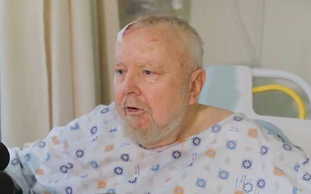From his hospital bed, David Ramati recalls getting hit by a car in a terrorist attack outside the West Bank settlement of Efrat on November 17, 2017. (Screen capture/YouTube)