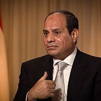Egyptian President Abdel-Fattah el-Sissi interviewed on CNBC, November 7, 2017. (Screen capture: CNBC)