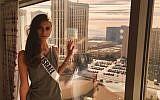 Adar Gandelsman, Miss Universe Israel, arrives in Las Vegas to compete at the Miss Universe 2017 pageant in November 2017. (Instagram)