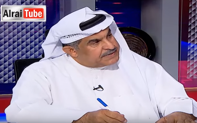 Kuwaiti writer Abdullah Al-Hadlaq on Alrai TV (YouTube screenshot)