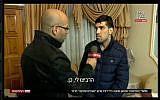 Faisal el-Natche, the alleged assault victim of Breaking the Silence spokesman Dean Issacharoff speaks to Hadashot News on November 21, 2017 (screen capture: Hadashot News)