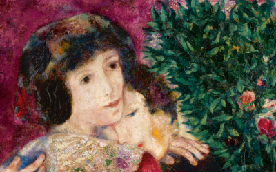 Detail from Jewish painter Marc Chagall's 'Les Amoureux.' (Courtesy Sotheby's website)
