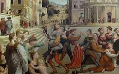 'The Rape of Dinah,' by Giuliano Bugiardini, circa 1554. (Wikimedia Commons)