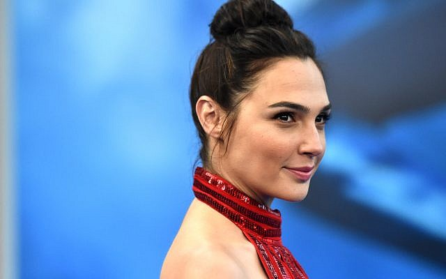 Gal Gadot at the 'Wonder Woman' premiere at the Pantages Theatre in Hollywood, California, May 25, 2017. (Frazer Harrison/Getty Images/via JTA)