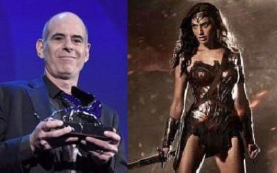 Foxtrot director Samuel Maoz (L) and Wonder Woman star Gal Gadot. (AFP/ Tiziana FABI and Zack Snyder/Warner Bros)
