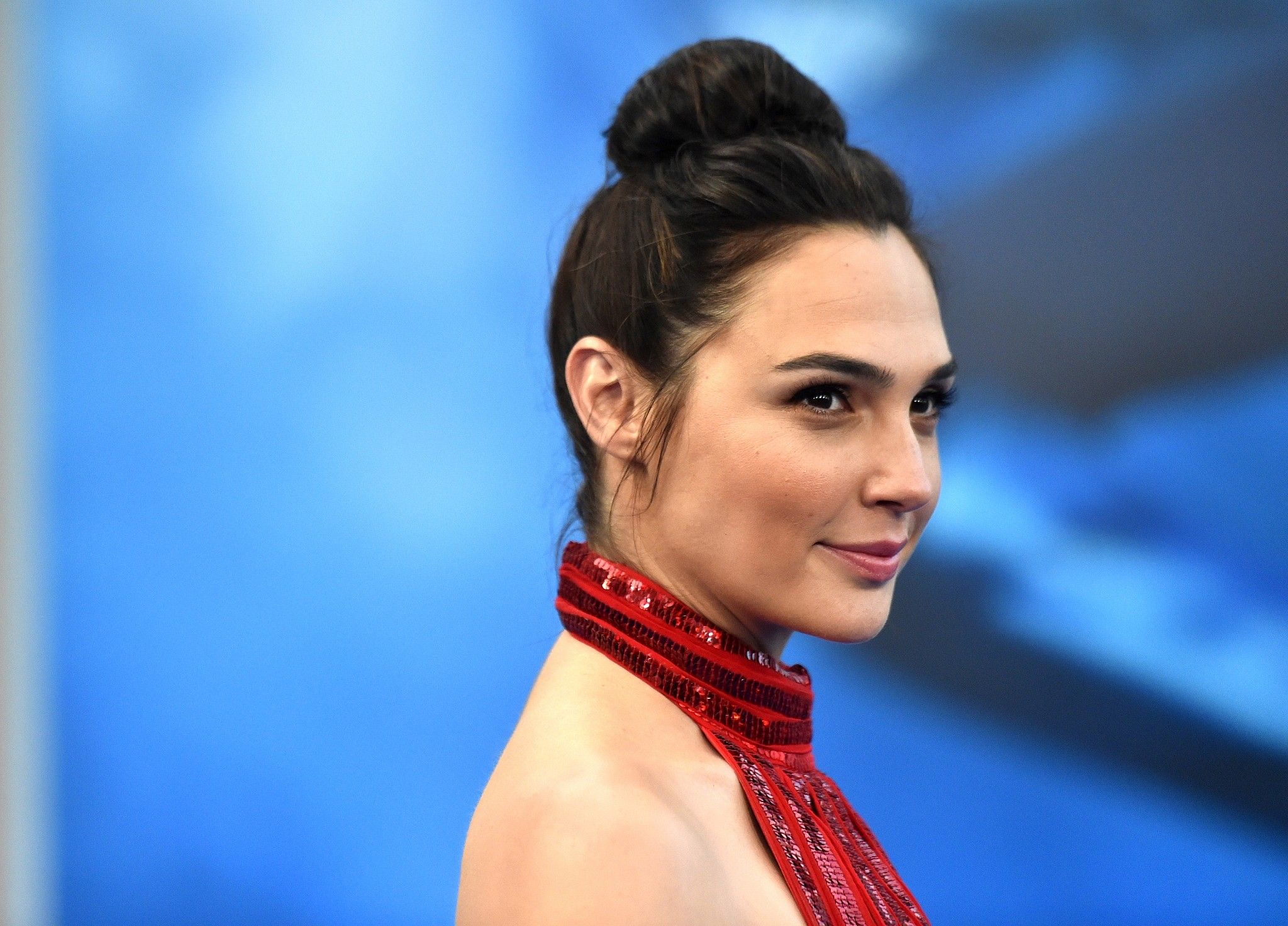 Gal Gadot at the 'Wonder Woman' premiere at the Pantages Theatre in Hollywood California