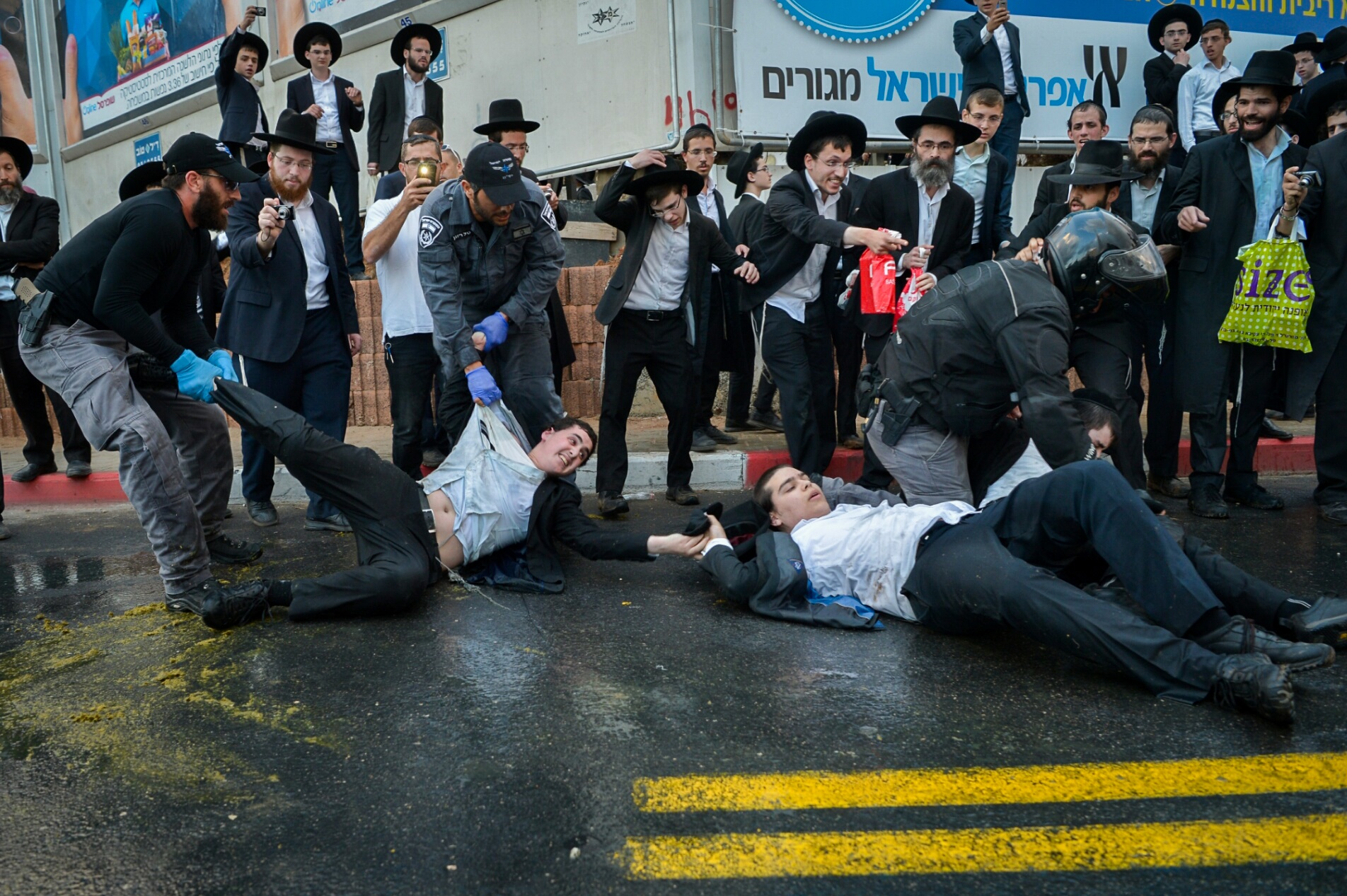 Innocent woman knocked down by Israeli 'skunk cannon' targeting ultra-Orthodox protesters