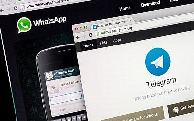 Illustrative image of WhatsApp and Telegram on a screen. (MattiaMarasco/iStock by Getty images)