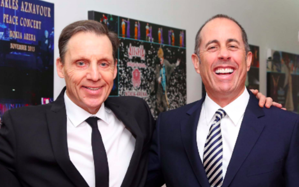 Comic Jerry Seinfeld (right) with his old friend and fellow comedian Mark Schiff. (Courtesy Mark Schiff)