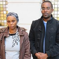 Agamesh Mengistu, with her son Ilan, in Washington, DC, Nov. 17, 2017. (Ron Kampeas)