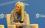 Dr. Miriam Adelson, a major funder of the Israeli American Council, on a panel at its annual Washington conference, Nov. 5, 2015. (Ron Kampeas/JTA)