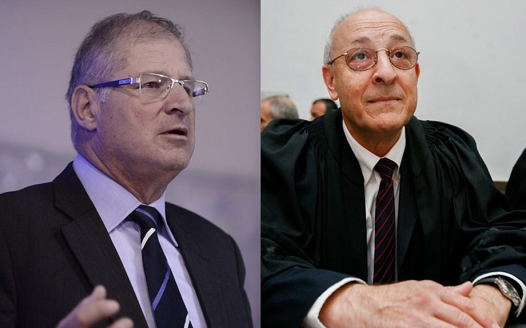 Netanyahu's lawyers and advisers David Shimron (L) and Yitzhak Molcho (R). (Tomer Neuberg/FLASH90 and Michal Fattal/Flash90)