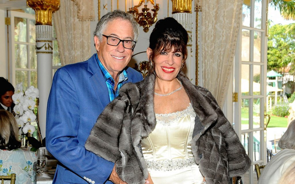 Robin Bernstein and husband Richard at Donald Trump's Mar-a-Lago estate in Palm Beach, Florida, February 13, 2017. (Davidoff Studios/Getty Images via JTA)
