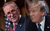 Sen. Charles Schumer, left, chided President Trump for 'politicizing' the deadly attack by an Uzbeki immigrant in New York City. (Schumer photo: Drew Angerer/Getty Images; Trump photo: Win McNamee/Getty Images)