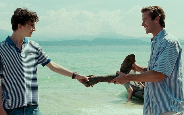 From 'Call Me By Your Name,' the opening film at the upcoming 19th Jewish Film Festival, December 16-21, at the Jerusalem Cinematheque (Courtesy Jerusalem Cinematheque)