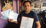 Hanoch Steimeker, owner of the Hodu Hakatan restaurant in Beersheba. (Courtesy Hashgacha Pratit)