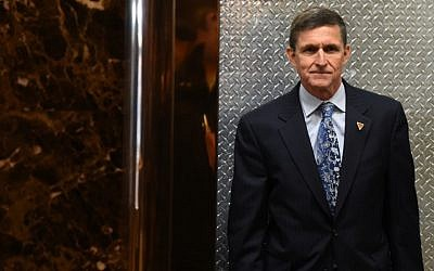 This file photo taken on January 4, 2017, shows Michael Flynn arriving at Trump Tower in New York for meetings with Donald Trump. (AFP Photo/Timothy A. Clary)