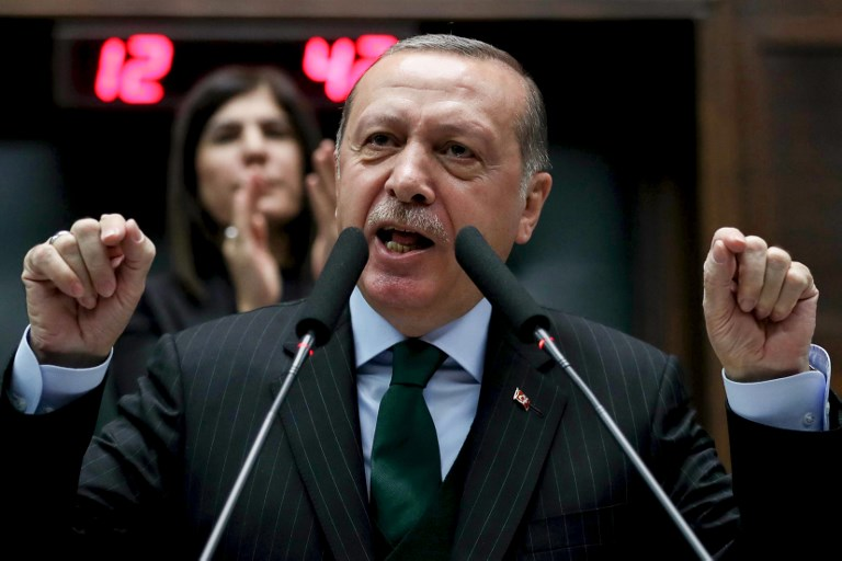 Turkey's Erdogan declares US Jerusalem decision