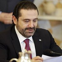 Lebanese Prime Minister Saad Hariri attends a cabinet meeting at the presidential palace of Baabda, east of the capital Beirut, on December 5, 2017. (AFP PHOTO / JOSEPH EID)