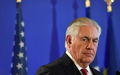 US Secretary of State Rex Tillerson participates in a press conference in Paris on December 8, 2017. (AFP Photo/Alain Jocard)