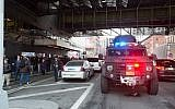 Police and other emergency services respond to a reported explosion at the Port Authority Bus Terminal  in New York, December 11, 2017.(Bryan R. Smith/AFP)