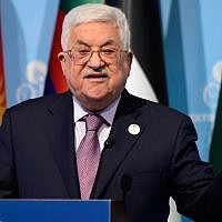 Palestinian Authority President Mahmoud Abbas speaks as he holds a press conference following the Extraordinary Summit of the Organisation of Islamic Cooperation (OIC) in Instanbul, Turkey, December 13, 2017, in Istanbul. (YASIN AKGUL/AFP)