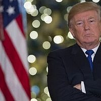 US President Donald Trump speaks about the tax reform legislation in the Grand Foyer of the White House in Washington, DC, December 13, 2017. (AFP/Saul Loeb)