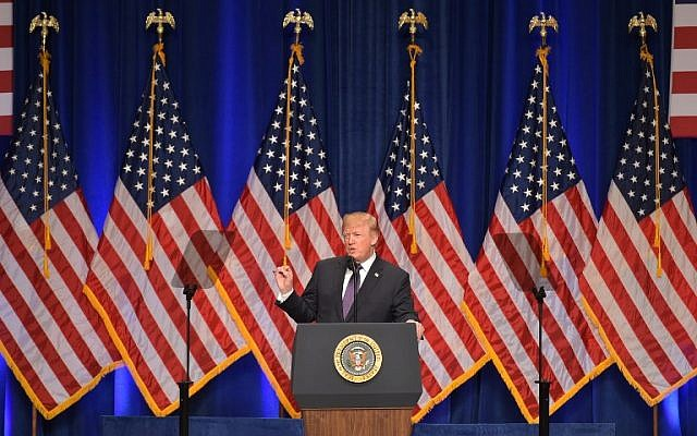 US President Donald Trump speaks on his national security strategy at the Ronald Reagan Building in Washington, DC on December 18, 2017. (AFP PHOTO / MANDEL NGAN)