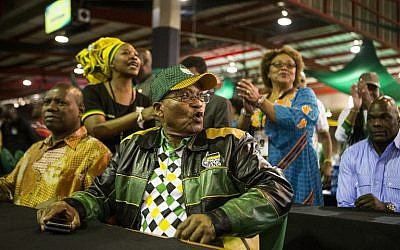President of South Africa Jacob Zuma attends the last day of the NASREC Expo Centre in Johannesburg on December 20, 2017, during the African National Congress (ANC) 54th National Conference (AFP PHOTO / WIKUS DE WET)