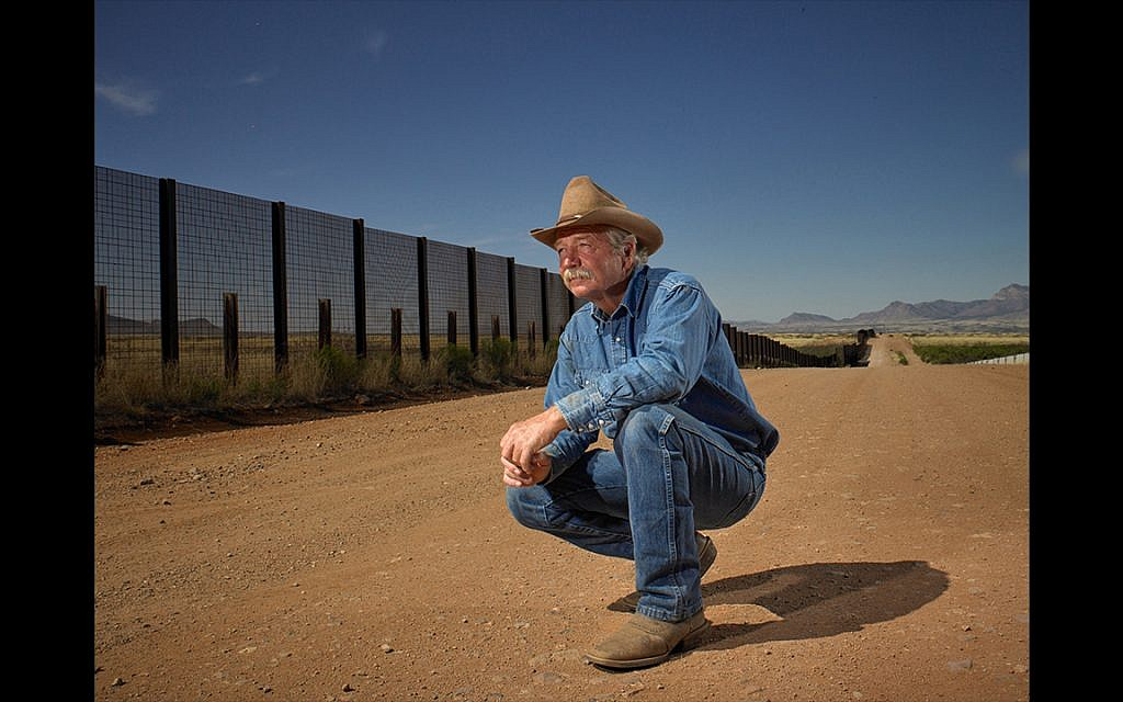 John Ladd on his ranch that runs along the Mexican border, Bisbee, Arizona. Voted Donald Trump. Shot March 10th, 2017 (Naomi Harris)