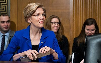 Senator Elizabeth Warren (D-Mass) attends full committee hearing on the nomination of Alex Michael Azar II to be Health and Human Services Secretary on Capital Hill on November 29, 2017 in Washington, DC.   (Tasos Katopodis/Getty Images/AFP)