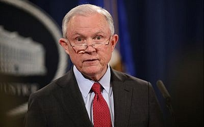 US Attorney General Jeff Sessions holds a news conference at the Department of Justice on December 15, 2017. (Chip Somodevilla/Getty Images/AFP)