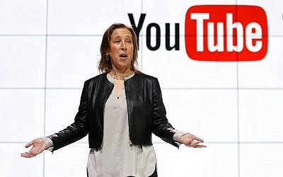 In this February 28, 2017, photo, YouTube CEO Susan Wojcicki speaks during the introduction of YouTube TV at YouTube Space LA in Los Angeles. (AP Photo/Reed Saxon, File)