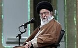 Iranian Supreme Leader Ayatollah Ali Khamenei attends a meeting with Iranian officials in Tehran, Iran, on December 6, 2017. (Office of the Iranian Supreme Leader via AP)