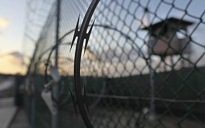 The sun rises at the detention center at Guantanamo Bay US Naval Base, Cuba. (Brennan Linsley/AP)