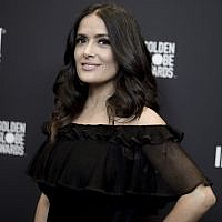 In this Nov. 15, 2017 file photo, actress Salma Hayek attends the HFPA and InStyle Celebrate the 2018 Golden Globe Awards Season in West Hollywood, California. (Richard Shotwell/Invision/AP, File)