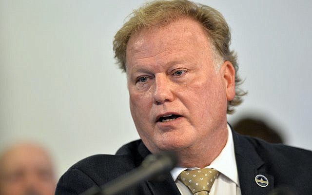In this Tuesday, Dec. 12, 2017, file photo, Kentucky State Representative, Republican Dan Johnson, addresses the public from his church regarding sexual assault allegations in Louisville, Kentucky. (AP Photo/Timothy D. Easley, File)