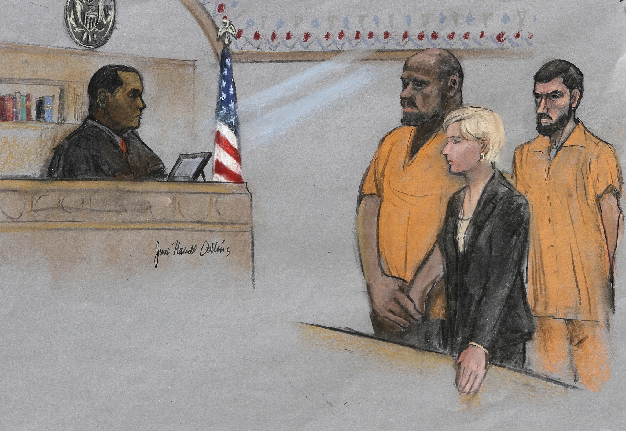 Man sentenced to 28 years in is inspired plot to behead conservative david wright 2l is depicted standing before magistrate judge donald cabell l kristyandbryce Gallery
