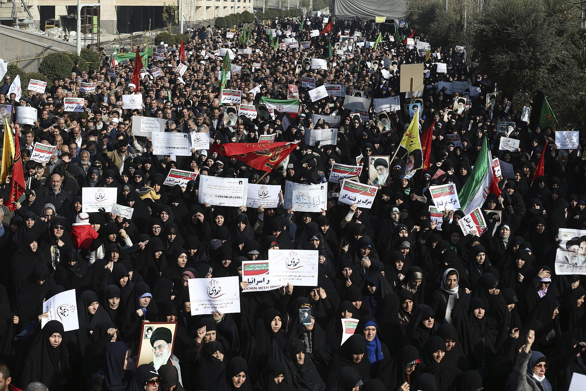 Thousands protest in Iran in anti-government demonstrations