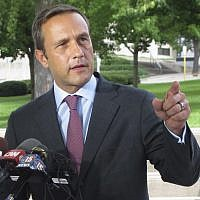 Paul Nehlen, a Republican primary challenger to House Speaker Paul Ryan, speaks in Janesville, Wisconsin, August 3, 2016 (AP Photo/Scott Bauer, File)