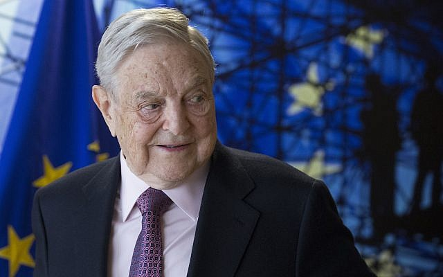 George Soros, founder and chairman of the Open Society Foundation, waits for the start of a meeting at EU headquarters in Brussels on April 27, 2017. (Olivier Hoslet, Pool Photo via AP)