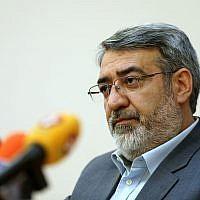 Iranian Interior Minister Abdolreza Rahmani Fazli speaks during a press conference in Tehran, Iran, April 13, 2015. (Ebrahim Noroozi/AP)