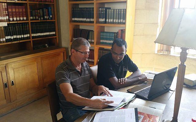 Archaeologists Peretz Reuven (left) and Assaf Avraham. (courtesy)