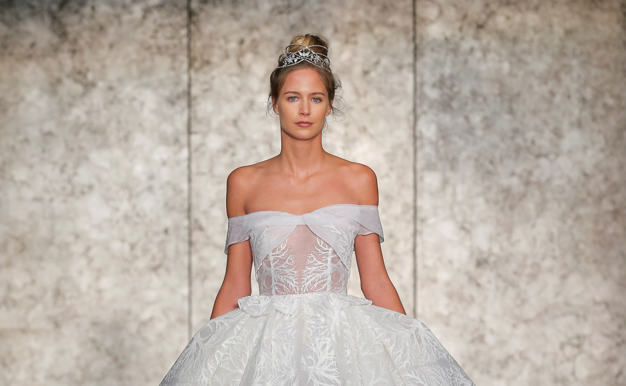 A Gown From Inbal Dror S Wedding Dress Collection At New York Bridal Fashion Week October