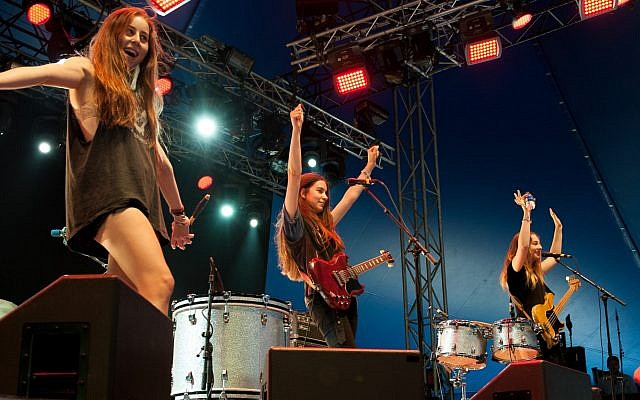 Haim at Way Out West, 2013 in Gothenburg, Sweden (Kim Metso, CC-BY-SA, via wikipedia)