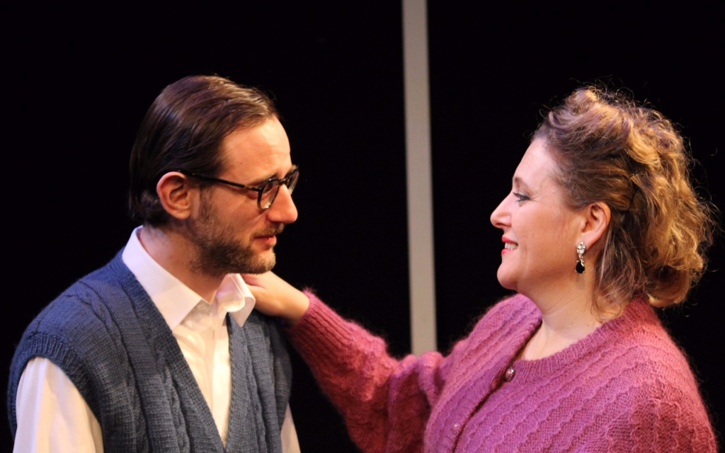 Luzer Twersky, left, and Ronit Asheri in 'Awake and Sing!' at Manhattan's 14th Street Y. (Pedro Hernandez/via JTA)